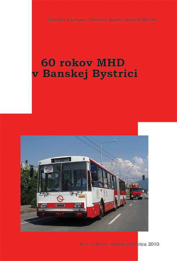 obálka knihy 60 rokov MHD v BB